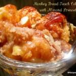 Monkey Bread Peach Cobbler with Almond Streusel