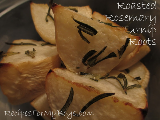 Roasted Rosemary Turnip Roots
