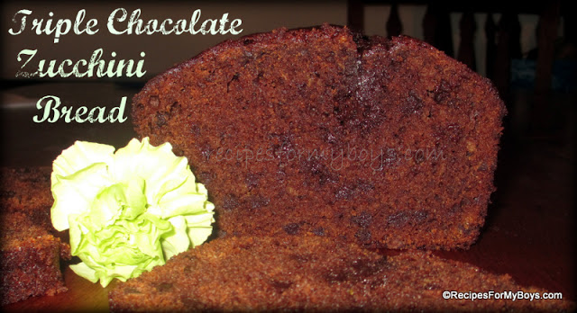 Triple Chocolate Whole Wheat Zucchini Bread