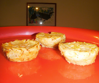 Mini Egg Custard Pies With Peaches