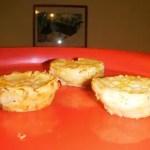 Mini Egg Custard Pies With Peaches