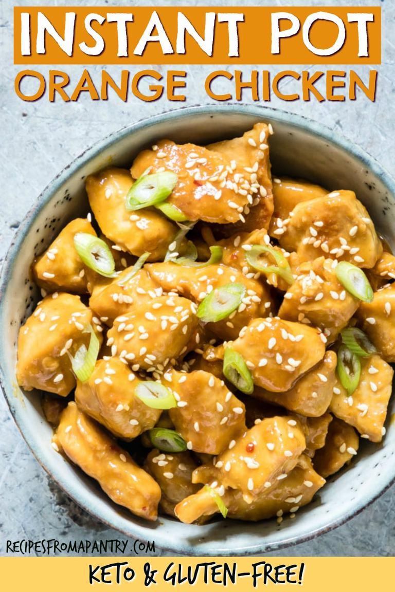 Instant Pot Orange Chicken {Keto, Gluten-Free} - Recipes ...