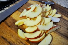 This looks like a lot of apple slices but you will need every last one of them!