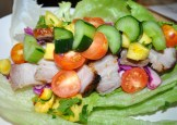 Spicy Pork Belly Lettuce Wraps