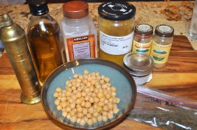 Roasted Chickpeas with Indian Spices - Ingredients