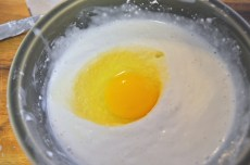 Add the egg