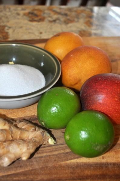 Mango Ginger Sorbet - Ingredients
