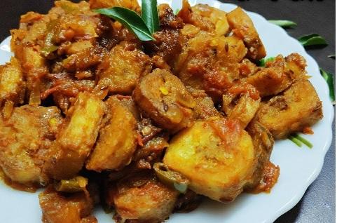 Kachche Kele Ki Sabzi Recipe