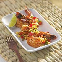 Grilled Chipotle Lime Shrimp with Corn Salsa