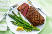%name   Strip Loin with Garlic Grilled Asparagus   RecipesNow.com