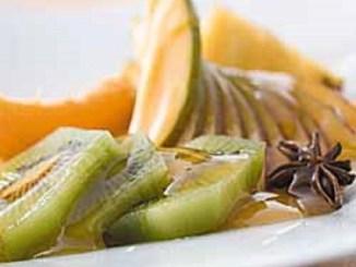 Tropical Fruit Salad With Spiced Orange Sauce