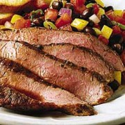 %name   Mesquite Grilled Flank Steak with Black Bean Salad   RecipesNow.com