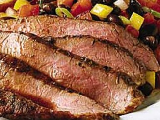 Mesquite-Grilled Flank Steak with Black Bean Salad