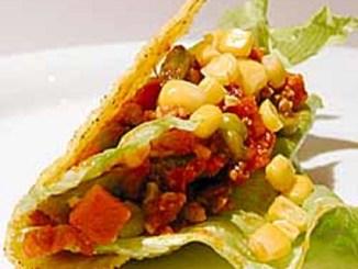Salmon Burger Tacos With Fruit Salsa