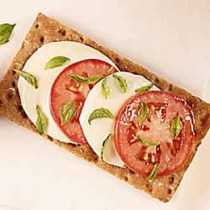 Margherita Pizza On Wasa Sourdough Crispbread