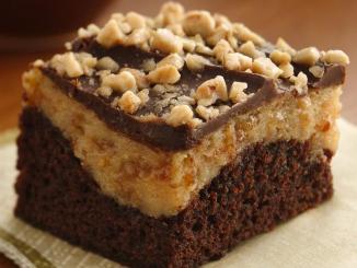 Peanut ButterToffee Cheesecake Brownies