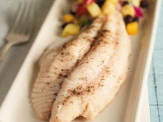 Poached Catfish with Fresh Mango Salsa