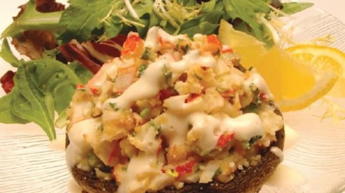 Seafood Stuffed Portabella Mushrooms