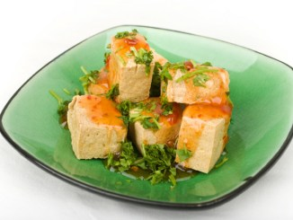 Saucy Tofu with Chinese Five Spice, Ginger and Hoisin