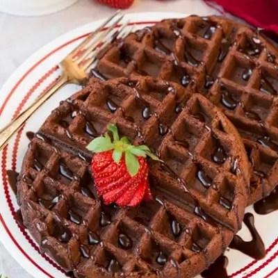 Chocolate  Mix Waffles Recipe