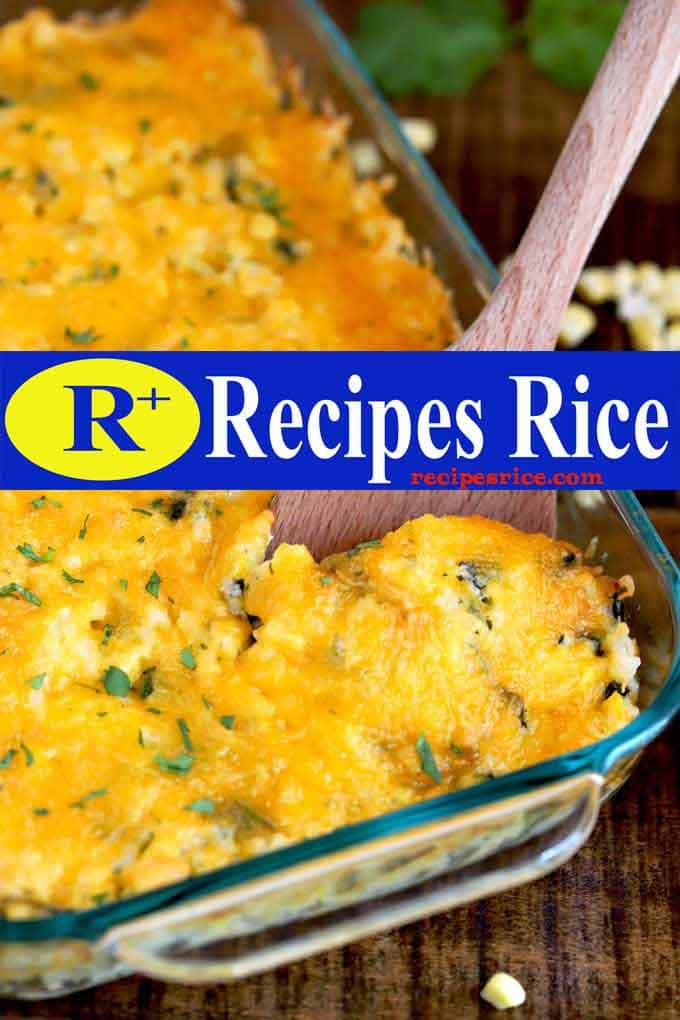 baked rice with green chiles