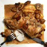 Calvados Kissed Chicken With Sautéed Apples & Mushrooms