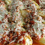 Jumbo Stuffed Shells with Meat Sauce