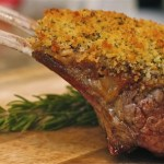 ROSEMARY DIJON AND PANKO CRUSTED RACK OF LAMB