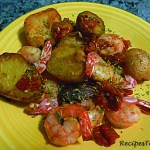 Baby Potatoes with Garlic, Tomatoes and Prawns: ActiFry