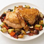 Chicken Thighs with Root Vegetable Hash