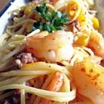 Shrimp/Mango Pasta Carbonara