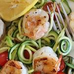 Zucchini Noodles with Lemon-Garlic Spicy Shrimp