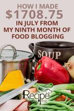 How To Start A Food Blog | Food Blogging Income Report July 2016