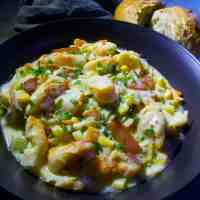 Smoked cod chowder