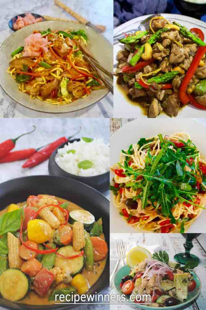 easy mid week dinners compilation of 5 different recipes