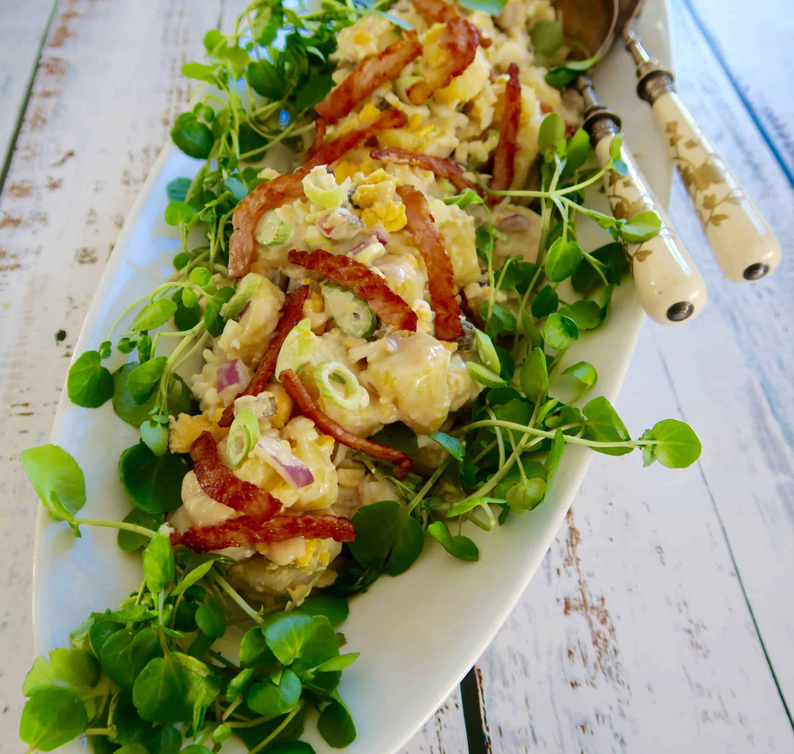 egg and bacon potato salad