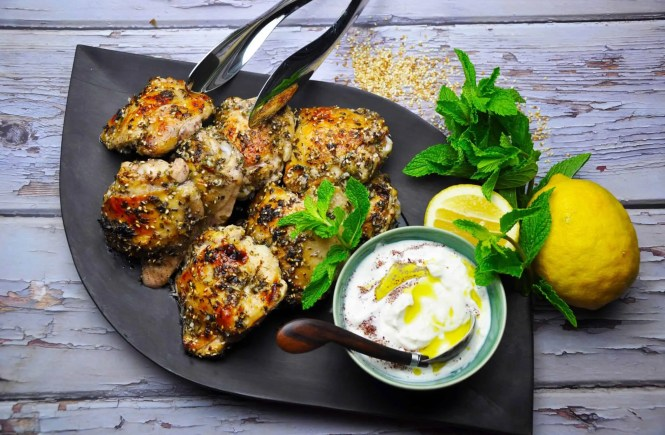 Middle Eastern Herb and Garlic Chicken Thighs
