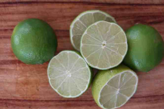 authentic thai beef salad limes ready to be squeezed