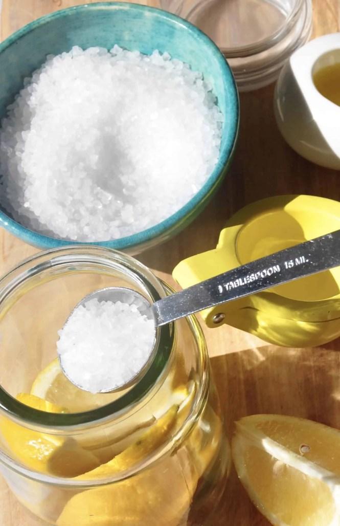 layering with salt