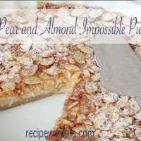 Pear and Almond Impossible Pie