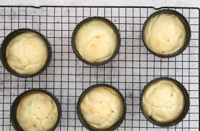 Easy Twice Baked Cheese Souffles after the first cook on a cooling rack