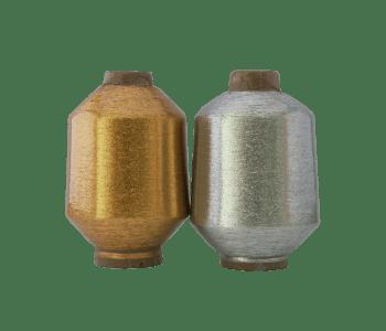 Lurex fio metálico poliéster ouro e prata
