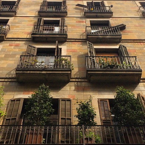 Façade typique de Barcelone