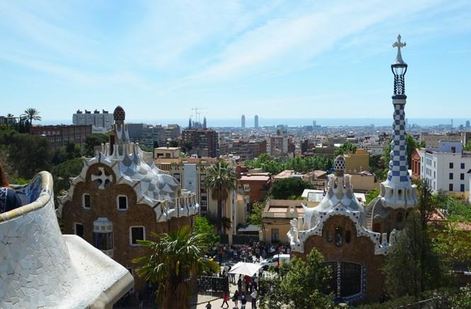 Magnifique vue sur Barcelone depuis le Parc Guell