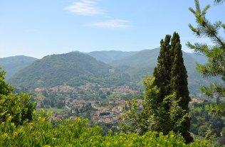 Vue sur Bellagio depuis le jardin de la Villa Serbelloni