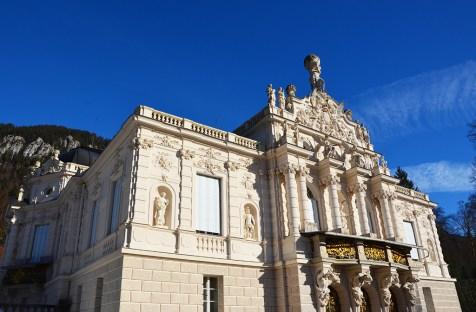 Façade du château de Linderhof : un mini Versailles