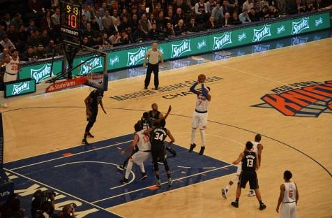 Match de NBA des Knicks au Madison Square Garden de New York