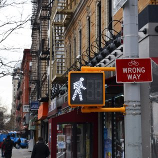 Panneau Wrong Way, New York