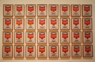 Collection des soupes Campbells de Warhol au Museum of Modern Art de New York