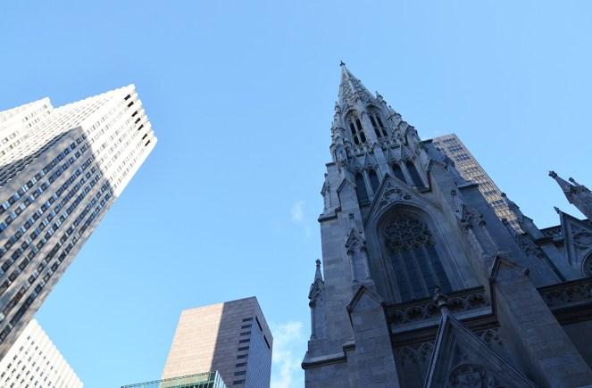 Façade de la St Patrick Cathedral, New York